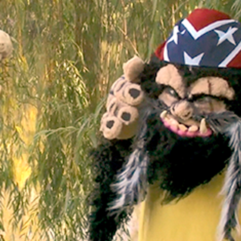 An image of the internet comedy's character Skunk Ape.