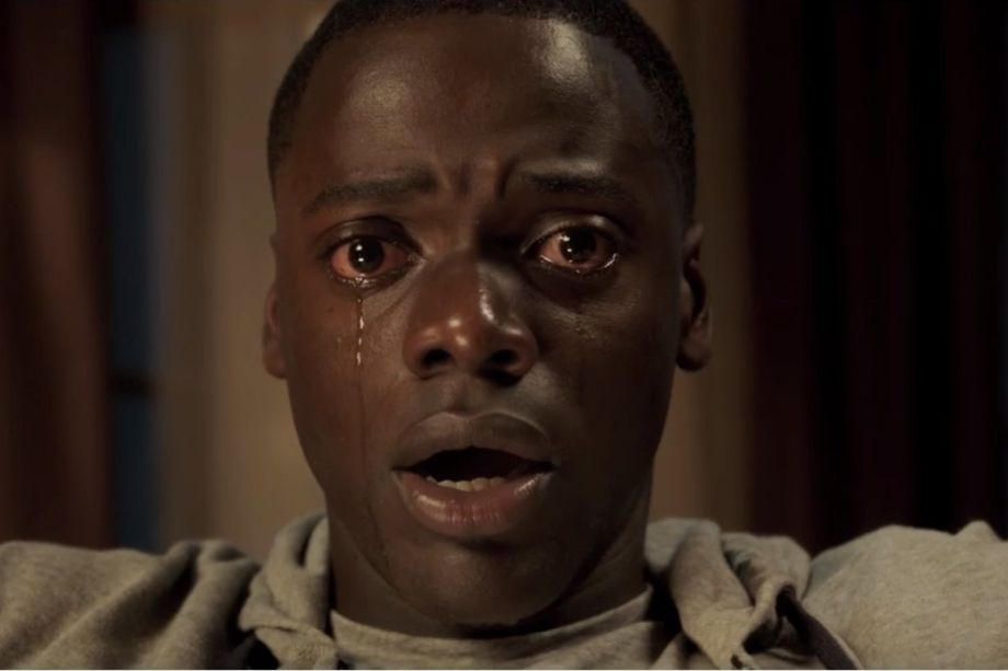 An image from the Oscar nominated 2017 horror film  Get Out .