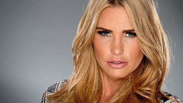 English television personality, businesswoman, model, author, singer, and designer Katie Price; formerly known by the pseudonym Jordan.