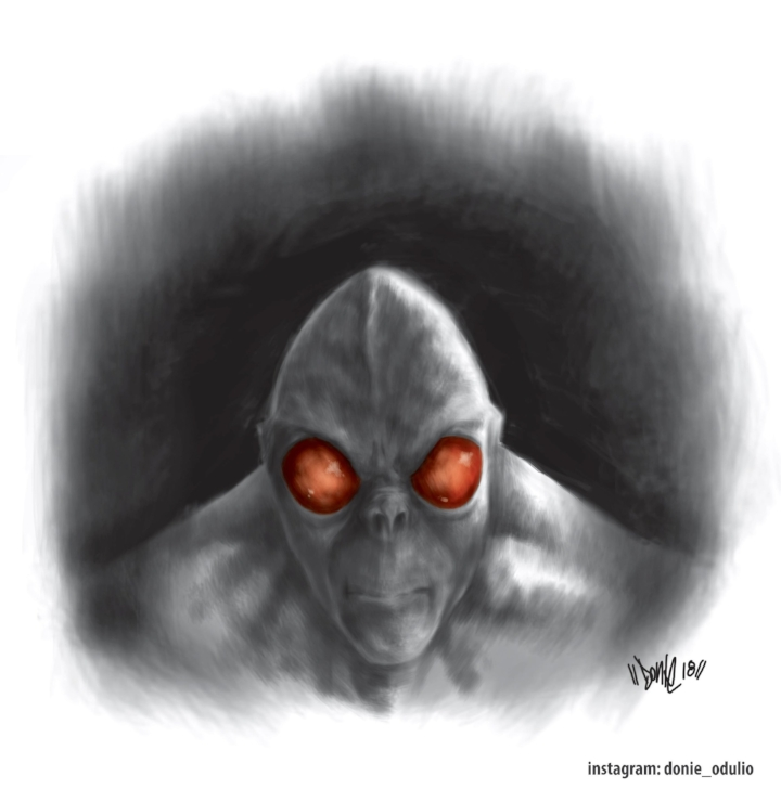 A portrait of the creature by Donie Odulio.  (Image credit: Donie Odulio)