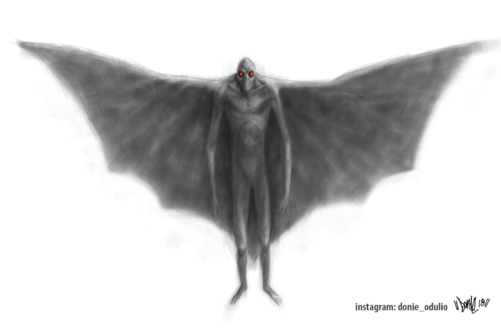 Witnesses have reported a tall, dark man with huge wings in  Oak Park ,  Little Village ,  Grant Park ,  Forest Park , and  Lake Shore Drive  in Chicago.  (Image credit: Donie Odulio)