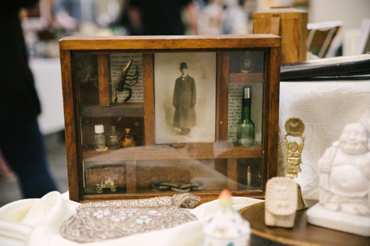 Sarah Soderlund's booth displayed an interesting array of strange memorabilia, every piece in the collection carrying its own weird tale.