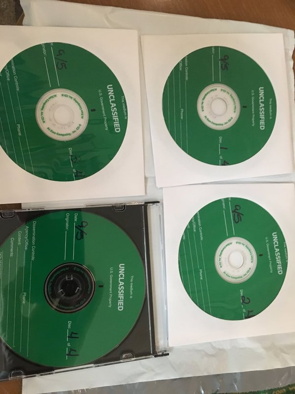 The reportedly unclassified discs.