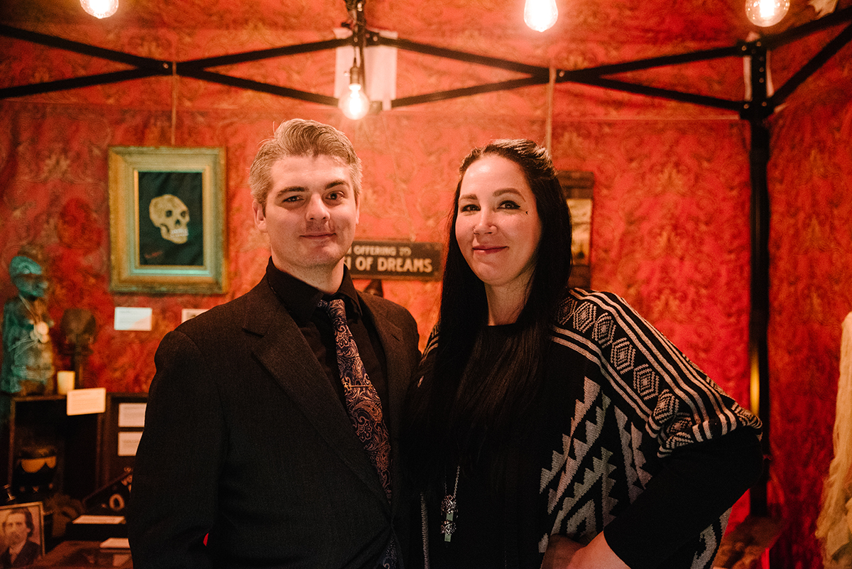 Greg and Dana Newkirk brought their Travelling Museum of the Paranormal and the Occult.