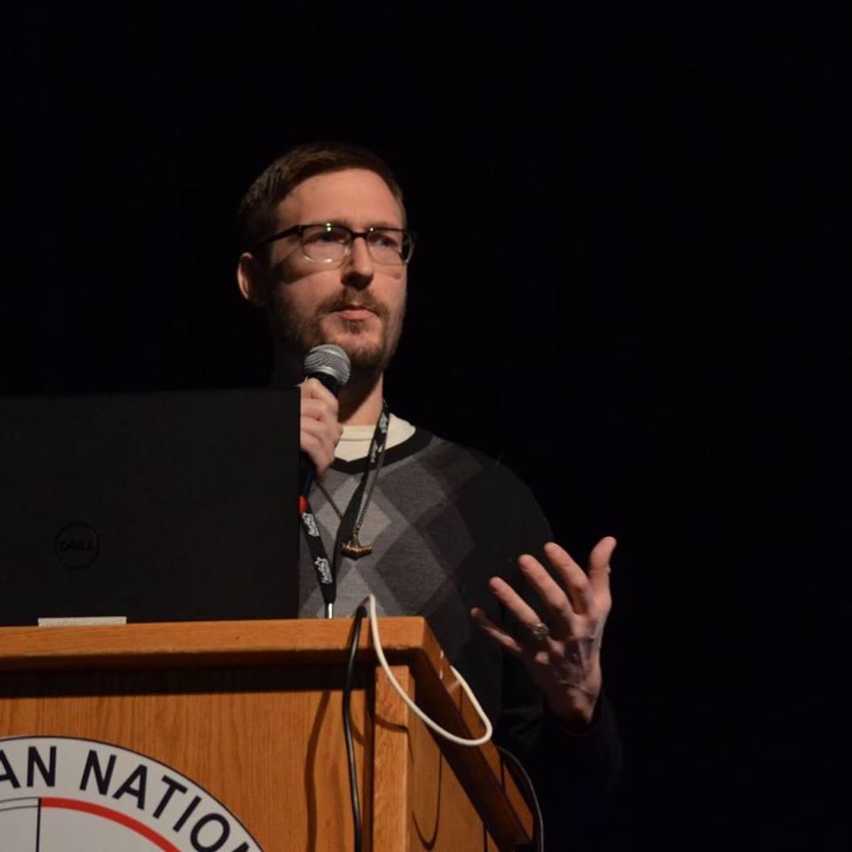Tobias Wayland talked about his work investigating Mothman sightings around Lake Michigan.