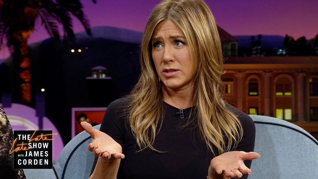 Aniston was on The Late Late Show with James Corden when she admitted to once having lived in a haunted house.  (Image credit: The Late Late Show with James Corden/YouTube)