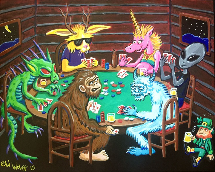 This painting by Eli illustrates how many fortean phenomena sit at the same metaphorical table.