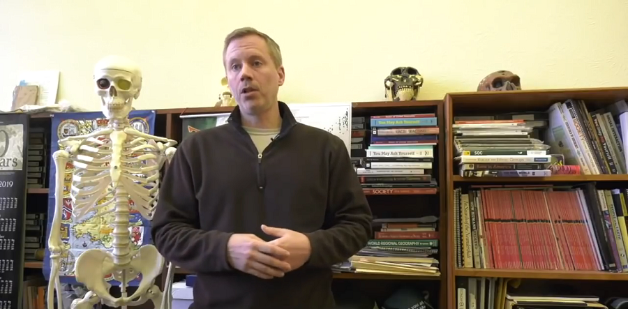 Dr. Michael P. Masters is a professor of anthropology at Montana Tech.  (KXLF News / YouTube)