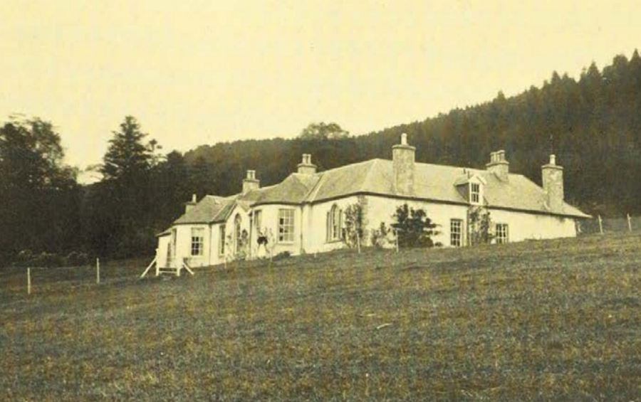 A photograph of the Boleskine House in 1912, taken during Crowley's ownership.  (Aleister Crowley)