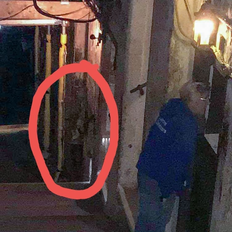 """An image of a """"man in a top hat and long coat"""" captured by the Spectre Detectors.  (Spectre Detectors / Facebook)"""