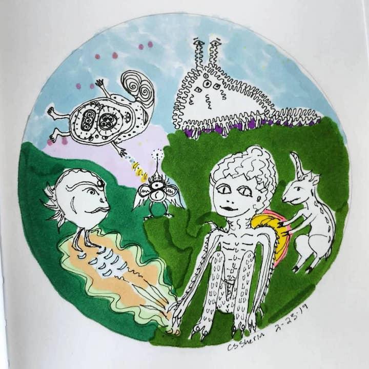 7.Aliens&Ghosts_inkonpaper_Chandra_Sherin_wildclover.org_Feb2019.jpg