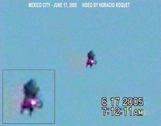 The image seen in a magazine by Mike. The video from which this still image was taken was filmed in June of 2005; over a year and a half after Mike's sighting.  (Horacio Roquet)