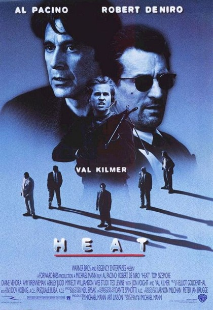 Poster for  Heat  by Mann (1995).