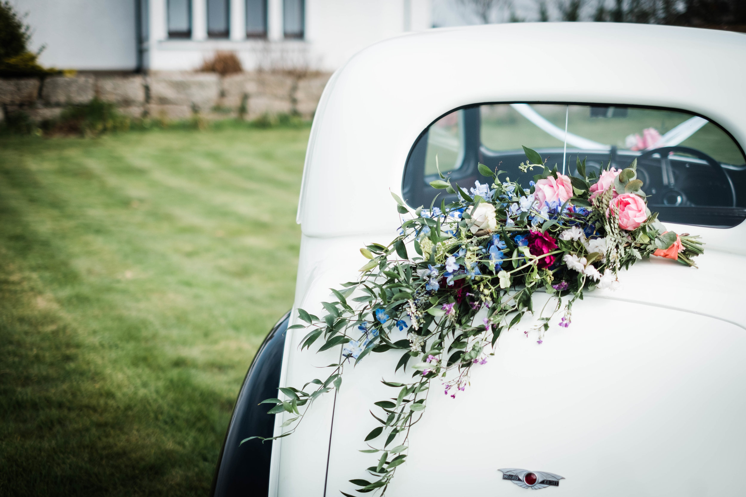 Vintage Car and Flowers