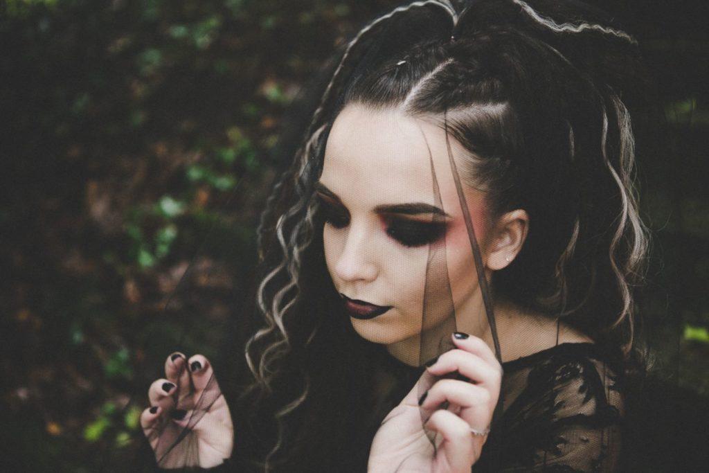 Gothic Bride In Veil
