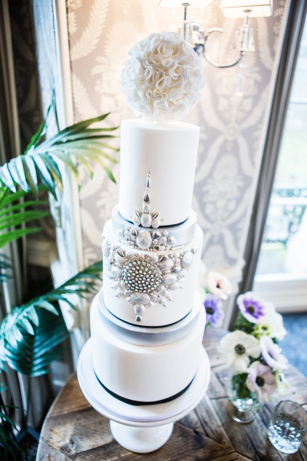 Art Deco Styled Shoot Cake
