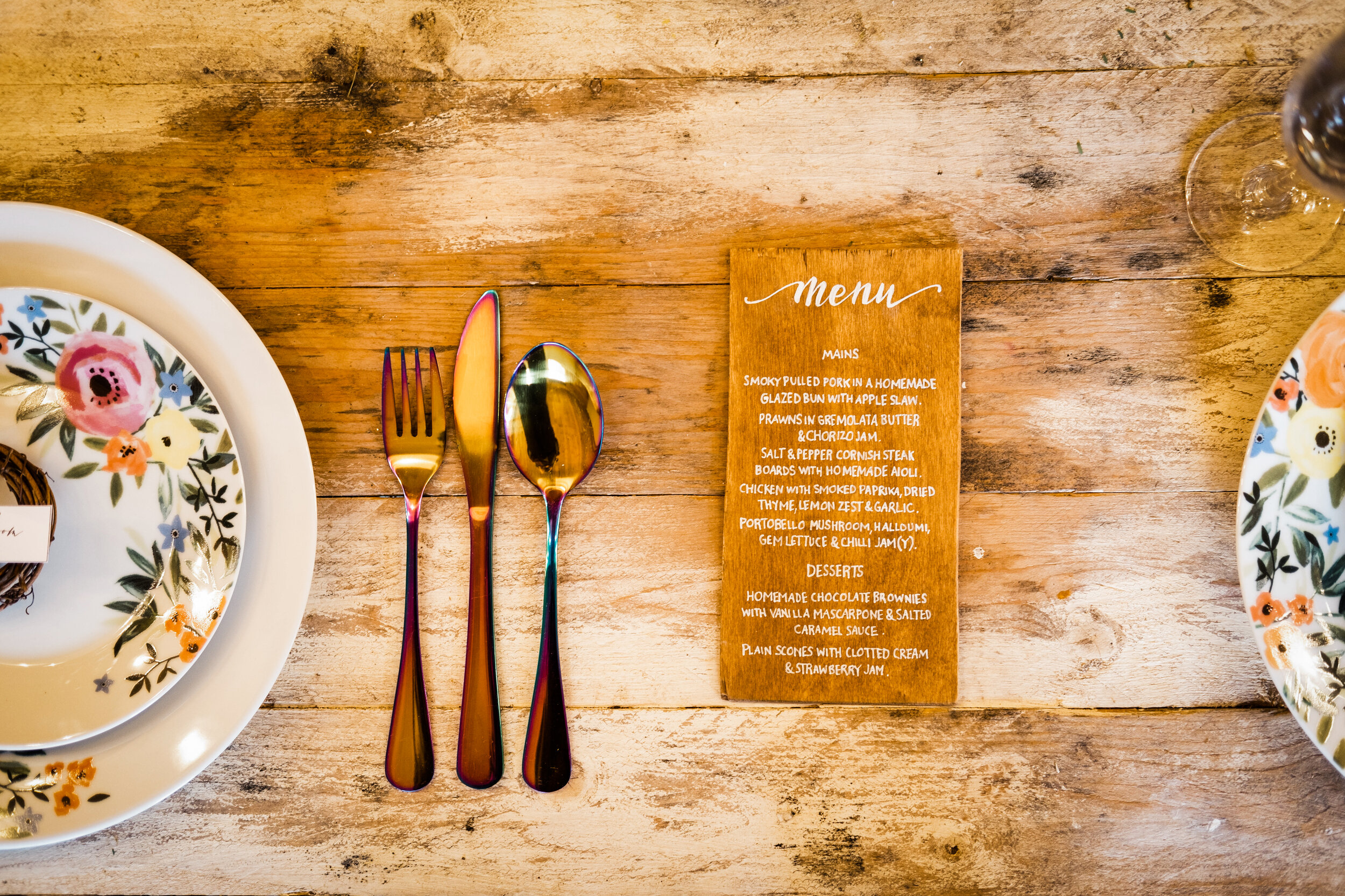 The Cow Shed Menu
