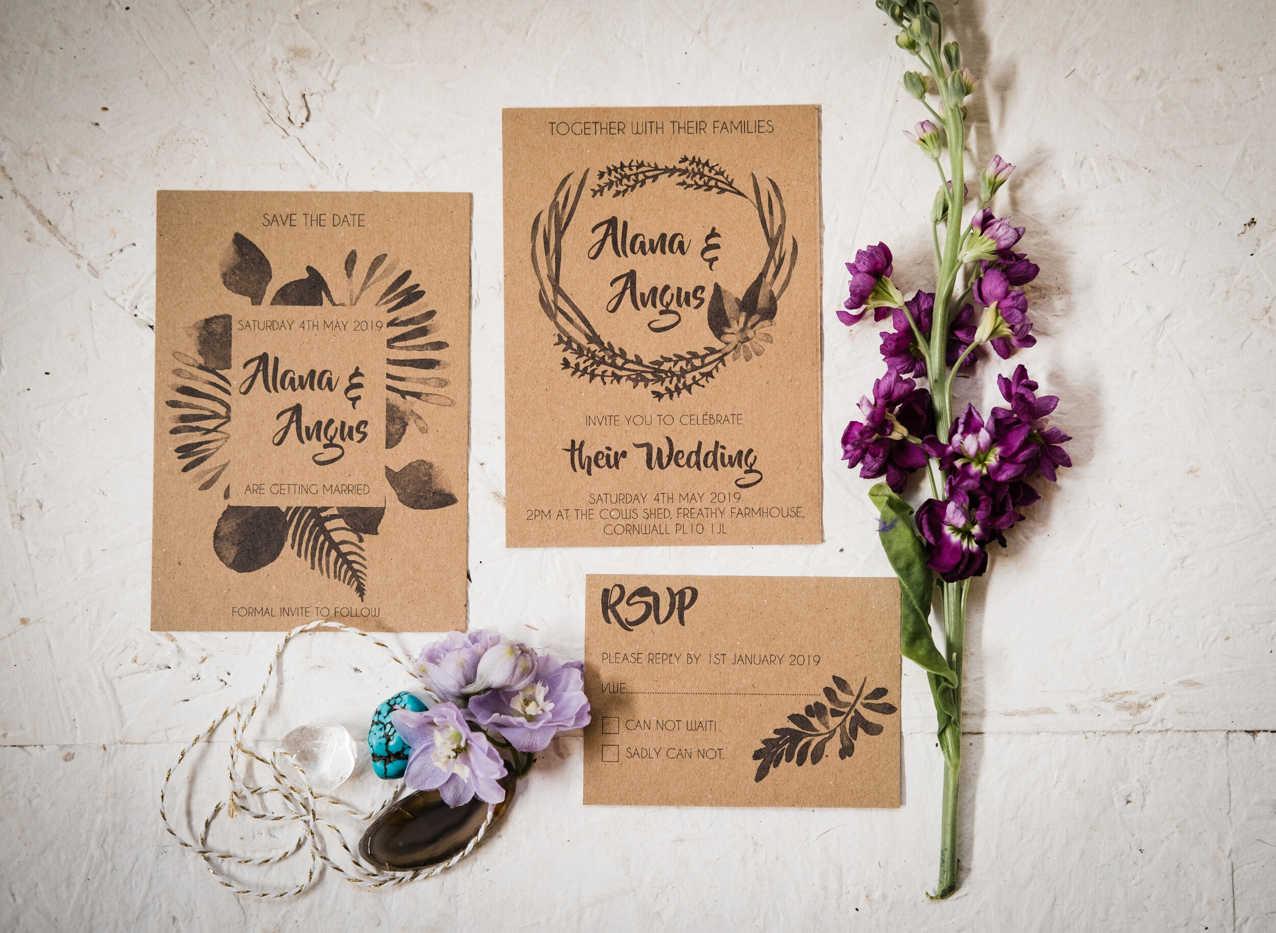 Recycled Card Wedding Invite