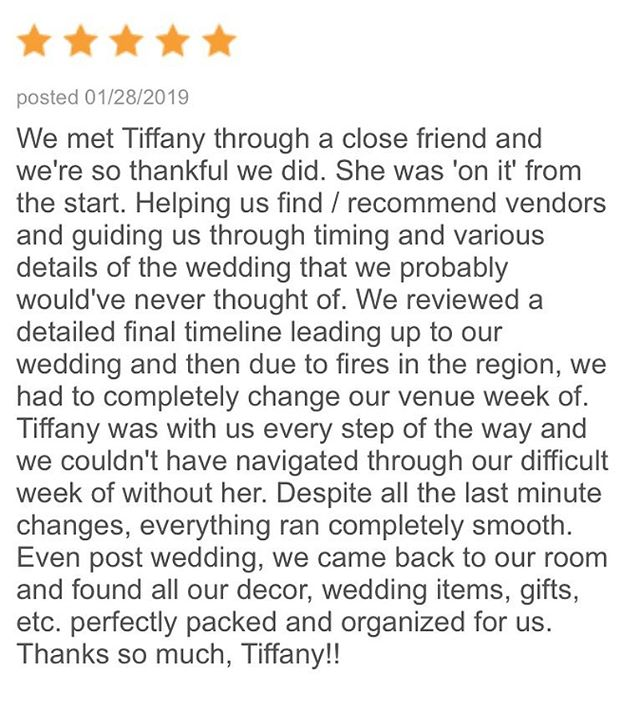 Thanks Lauren and Brandon for such a lovely review on @theknot! It was a gorgeous wedding at @westlakevillageinn 💕