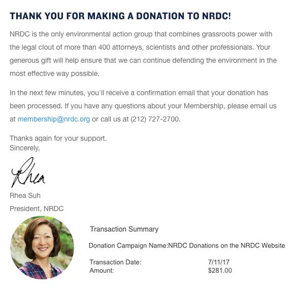 June: $281 to NDRC