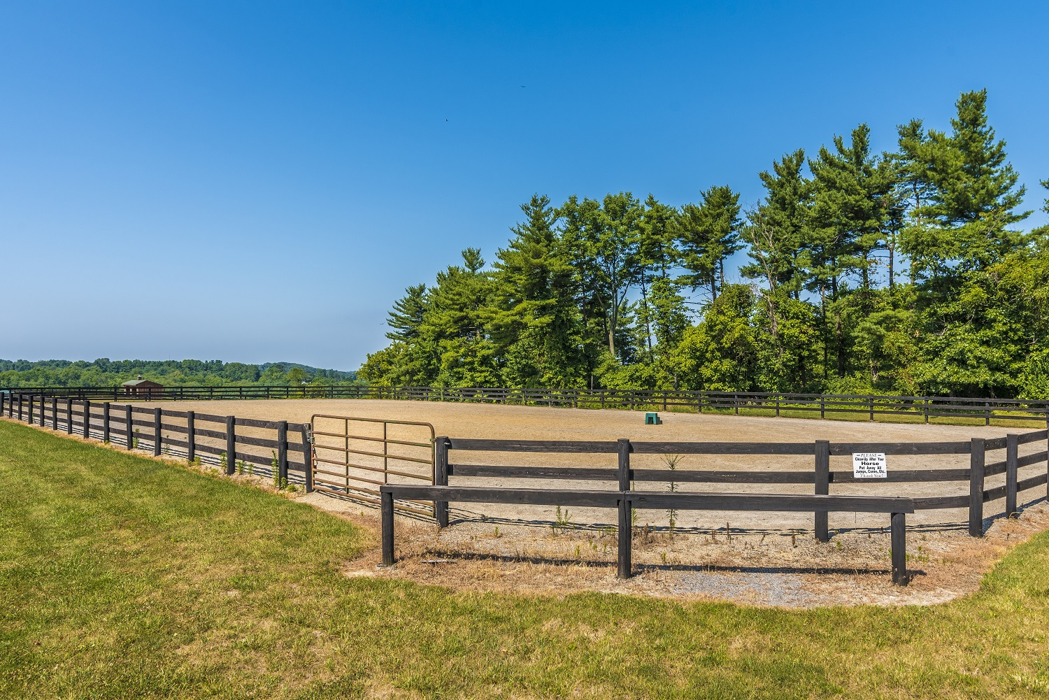 100 x 200 foot outdoor arena (jumps and cavallettis are AVAILABLE for use)
