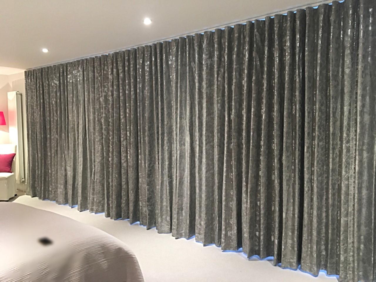 Floor to Ceiling Wave Headed Curtains, Villa Nova Xander Collection