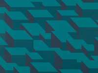 Cubic Bumps Wallpaper, Teal