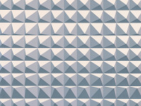 Domino Pyramid Wallpaper, Steel
