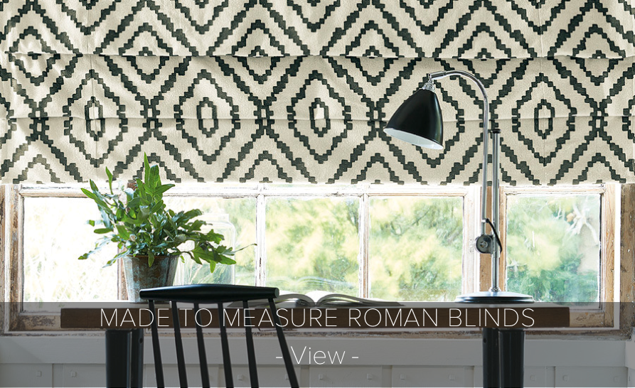 Bespoke Made To Measure Roman Blinds.   >    find out more