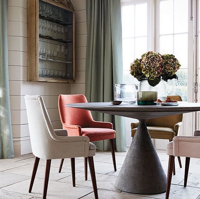 Miro from Romo, a herringbone re-invention of the ultra soft and versatile Linara fabric . It has a palette of 79 tempting shades , the drape is amazing and it's suitable for upholstery too . #fabrics #romanblinds #upholstery #curtains #interiordesign #interior123 #bespoke #interiordesign #tactile #soft