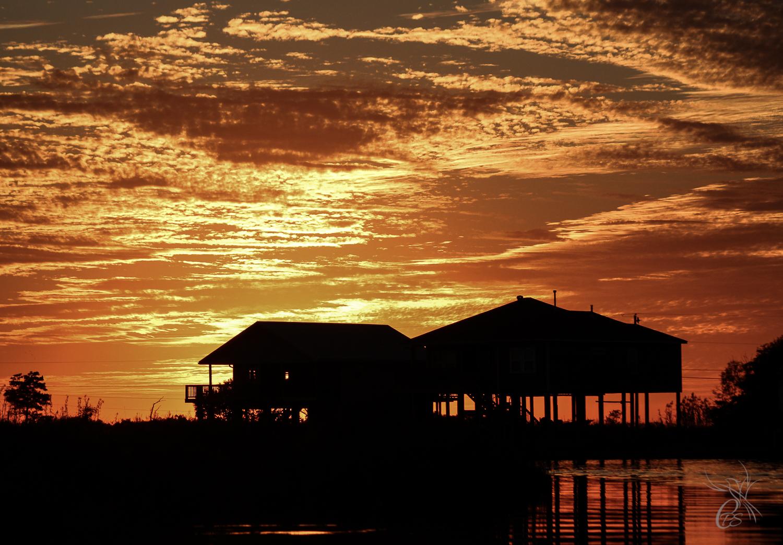 Bayou Homes in Sunset Glory
