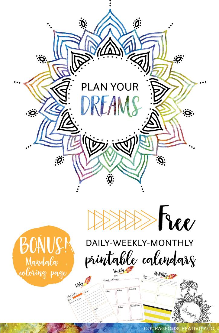 Plan Your Dreams freebie