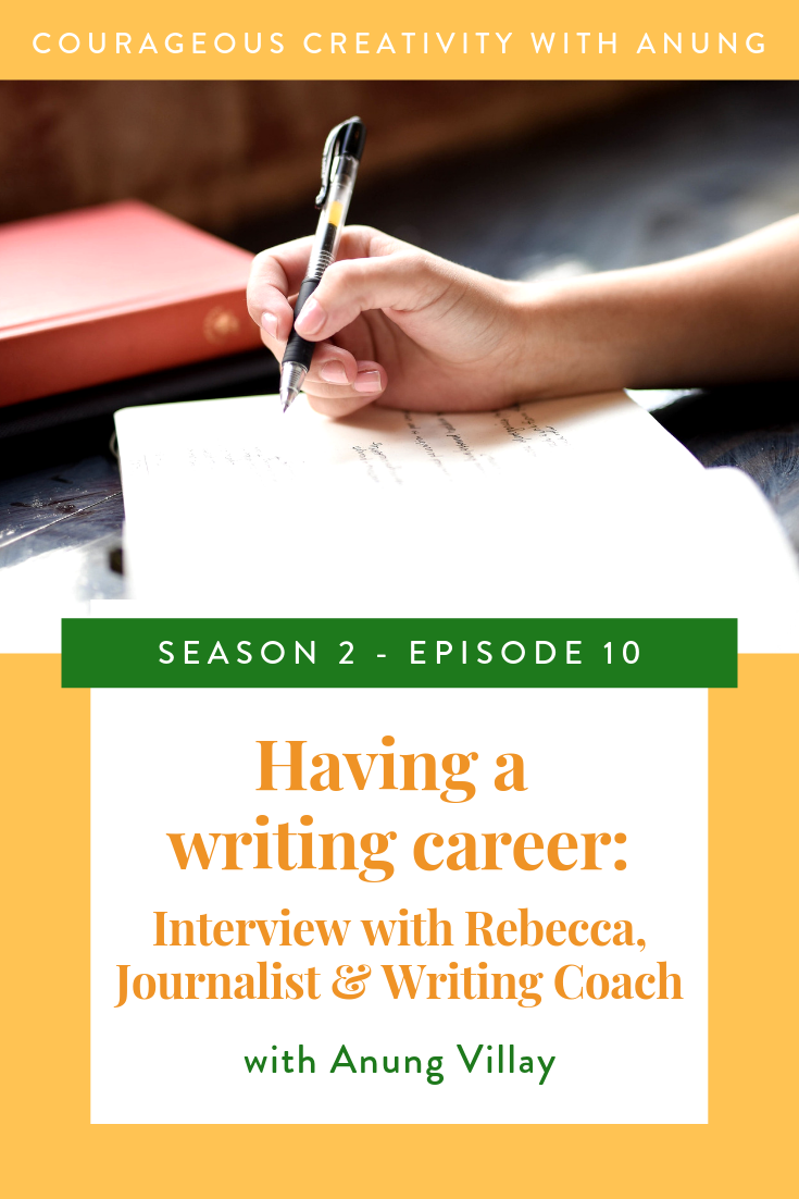 Having a writing career: Interveiw with Rebecca (a Journalist and writing coach)
