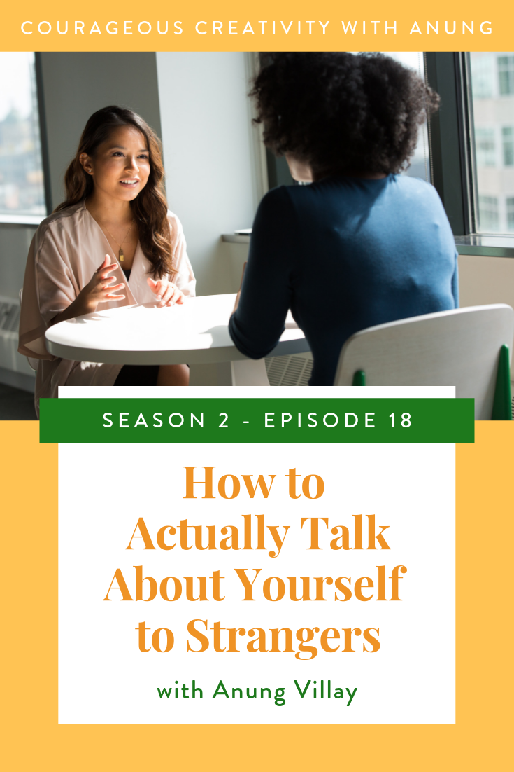 How to talk about yourself to strangers
