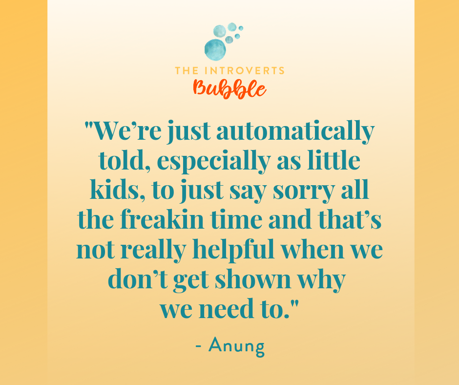 We need to be taught why we say sorry as kids