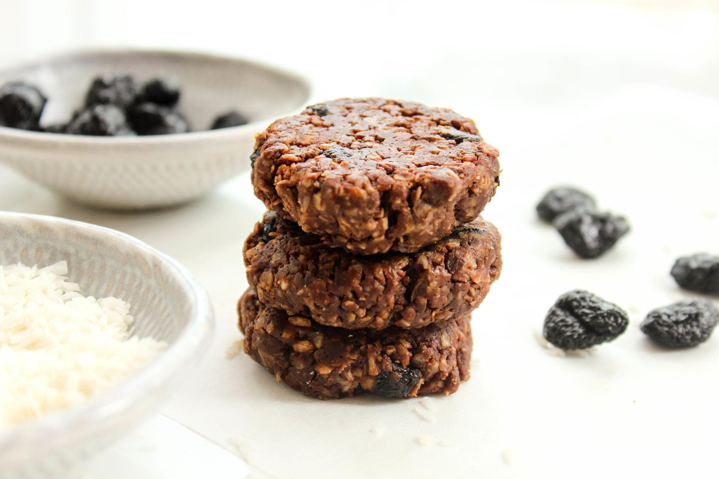 gluten free vegan chocolate cherry cookies
