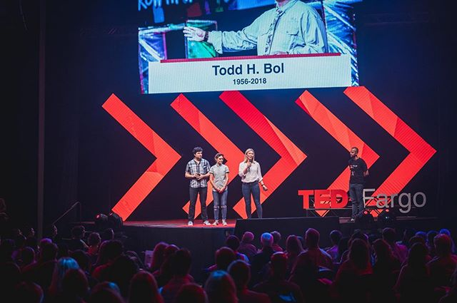 Throwback to a few weeks ago when we got to share our #LittleFreeGarden story on the #TEDxFargo stage! 🥳 [📸: @jalanpaul]