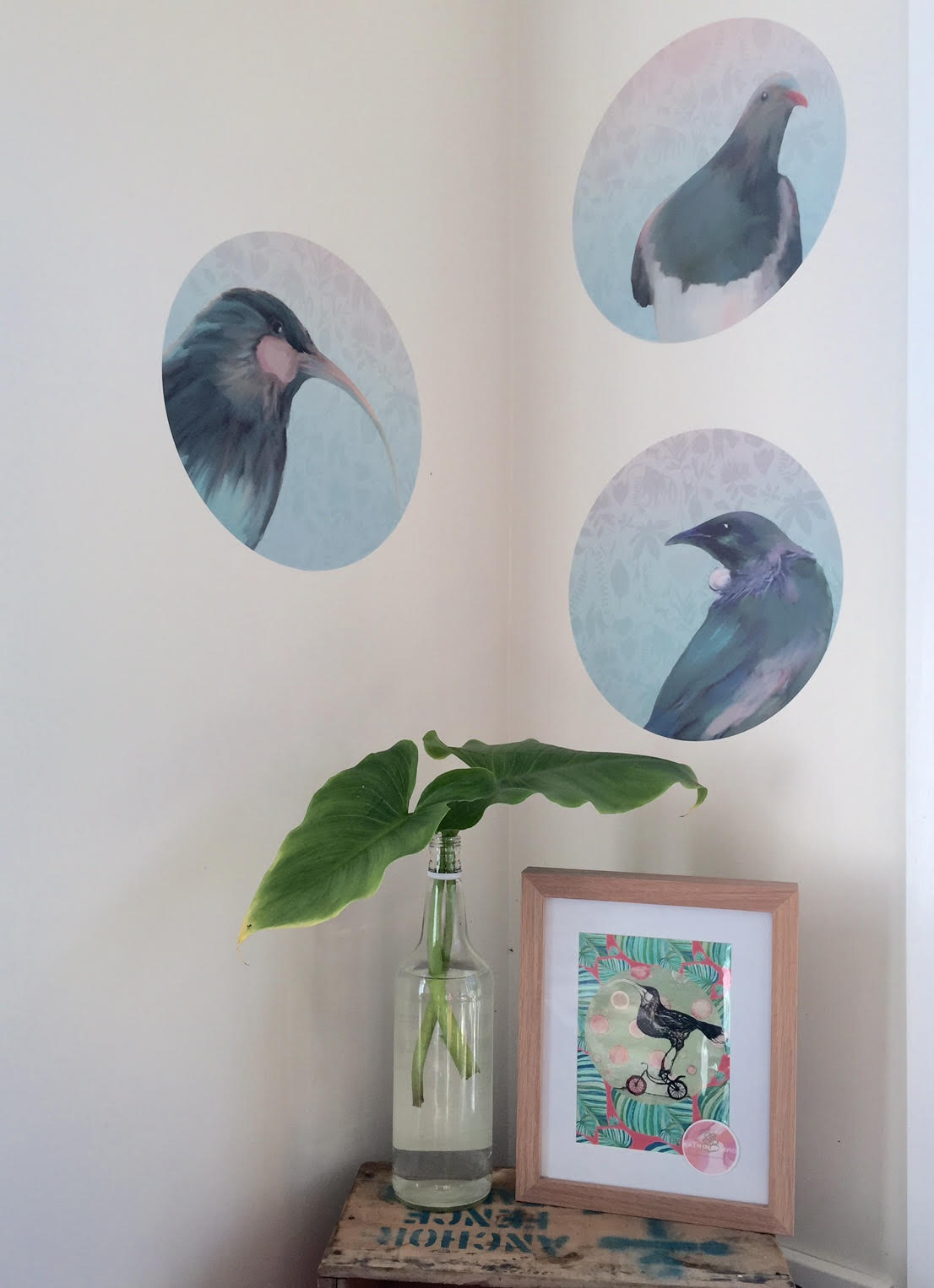 New Zealand birds wall spots - they can be positioned as a flock or on their own for instant awesome.