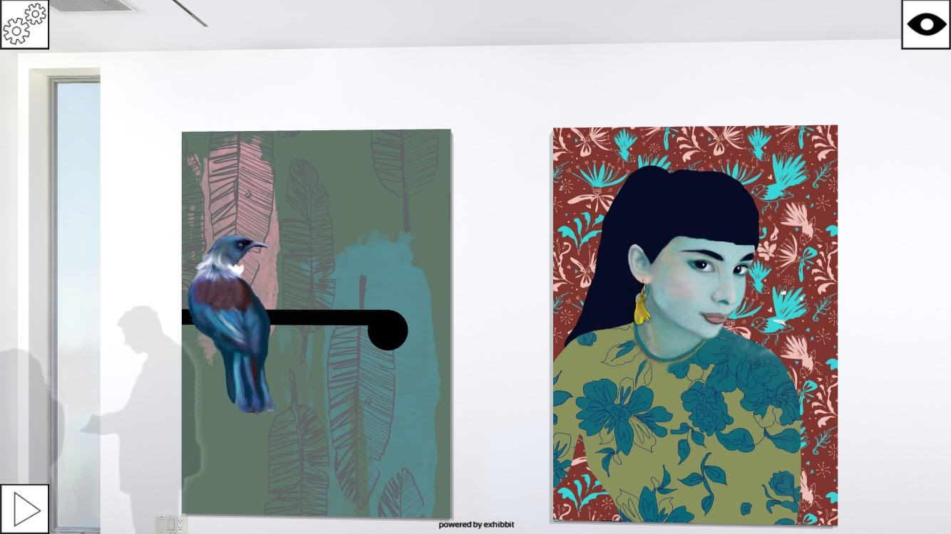 'Tui after Walters' and 'Audrey with Fantails'