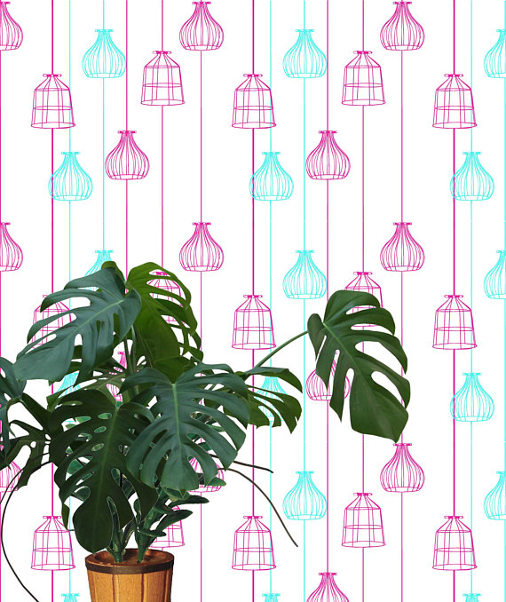 In truth, even the Monstera plant is digital, but how awesome is it that you can realise a design or decor idea digitally without even getting out the wallpaper glue?