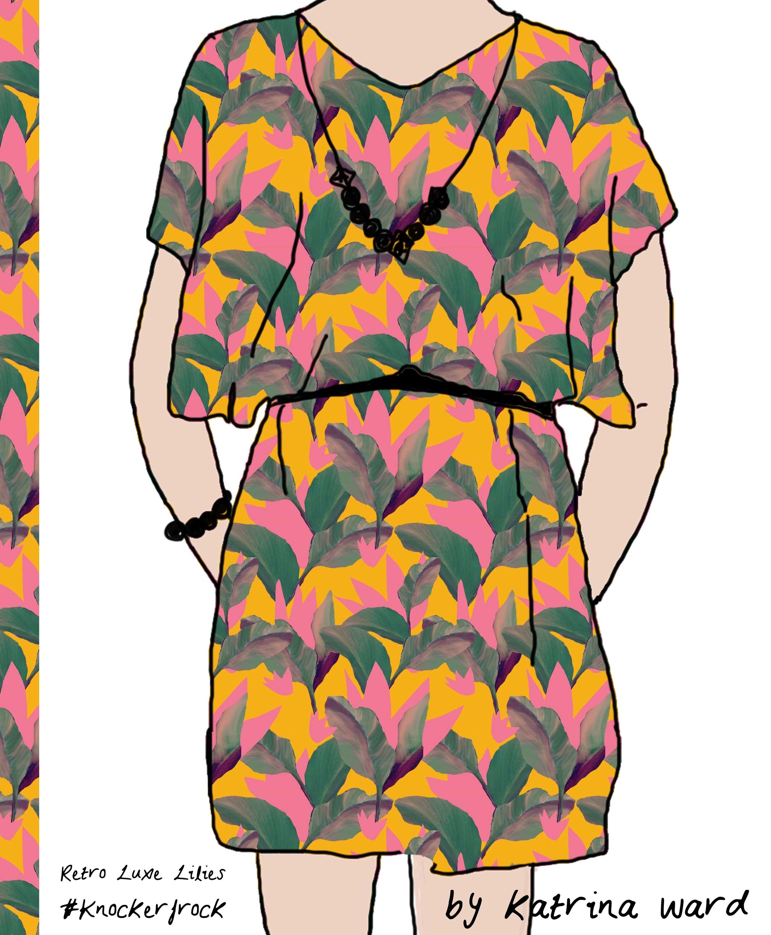retro luxe lilies knockerfrock.jpg