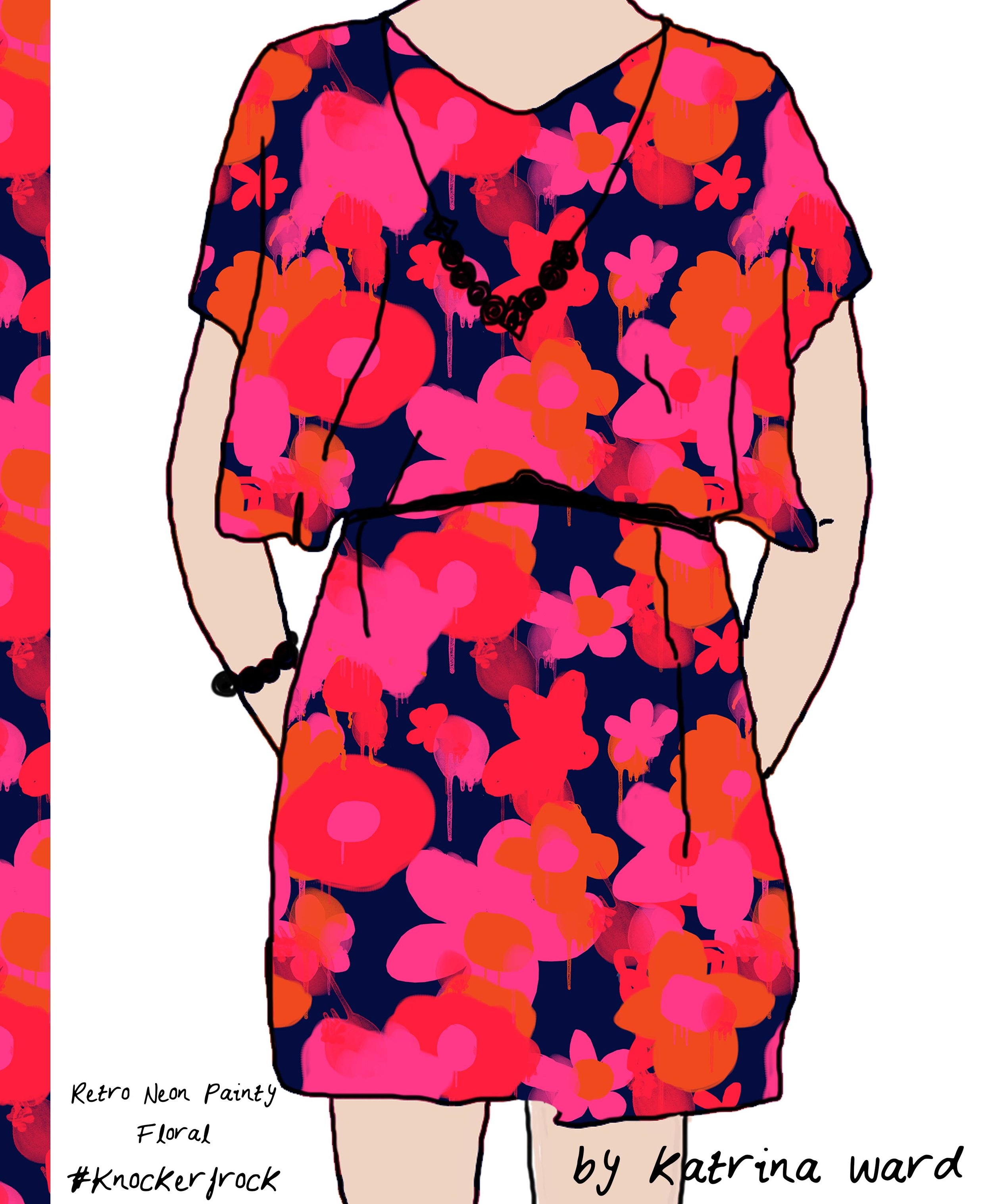retro neon painty floral knockerfrock.jpg