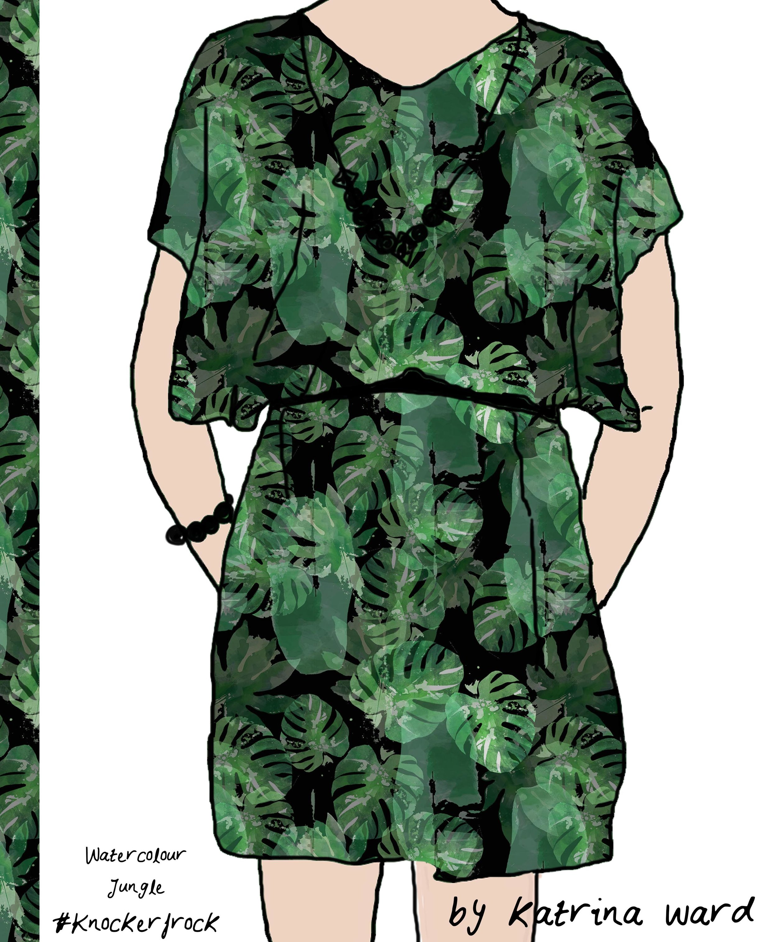 watercolour jungle knockerfrock.jpg