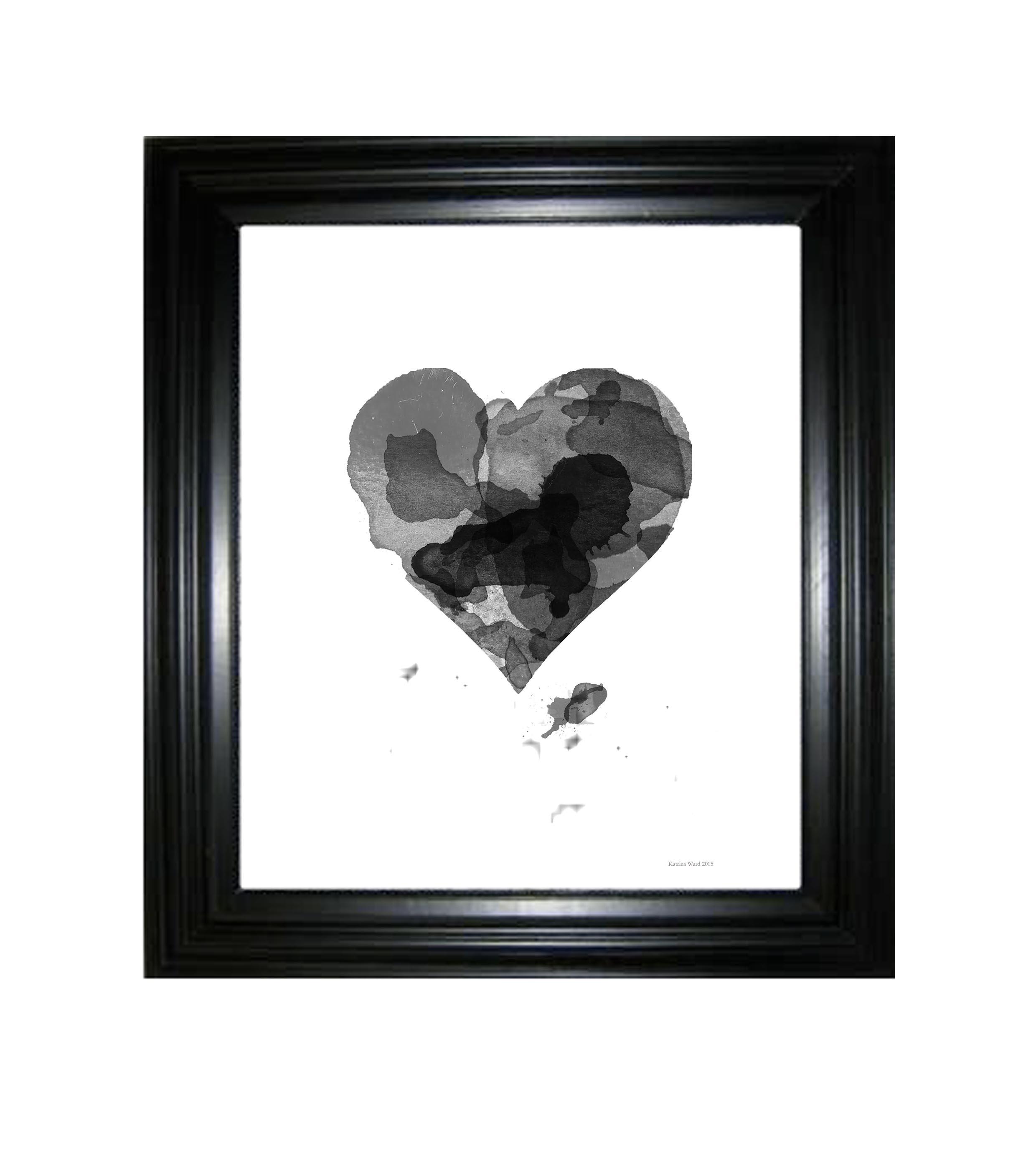 Black heart framed.jpg