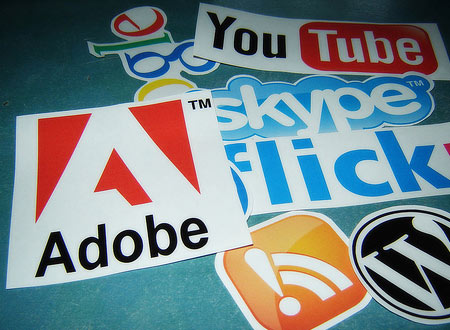 FIGURE 2: Stickers are used by companies, both small and large alike. ( Source: realgeek.com)
