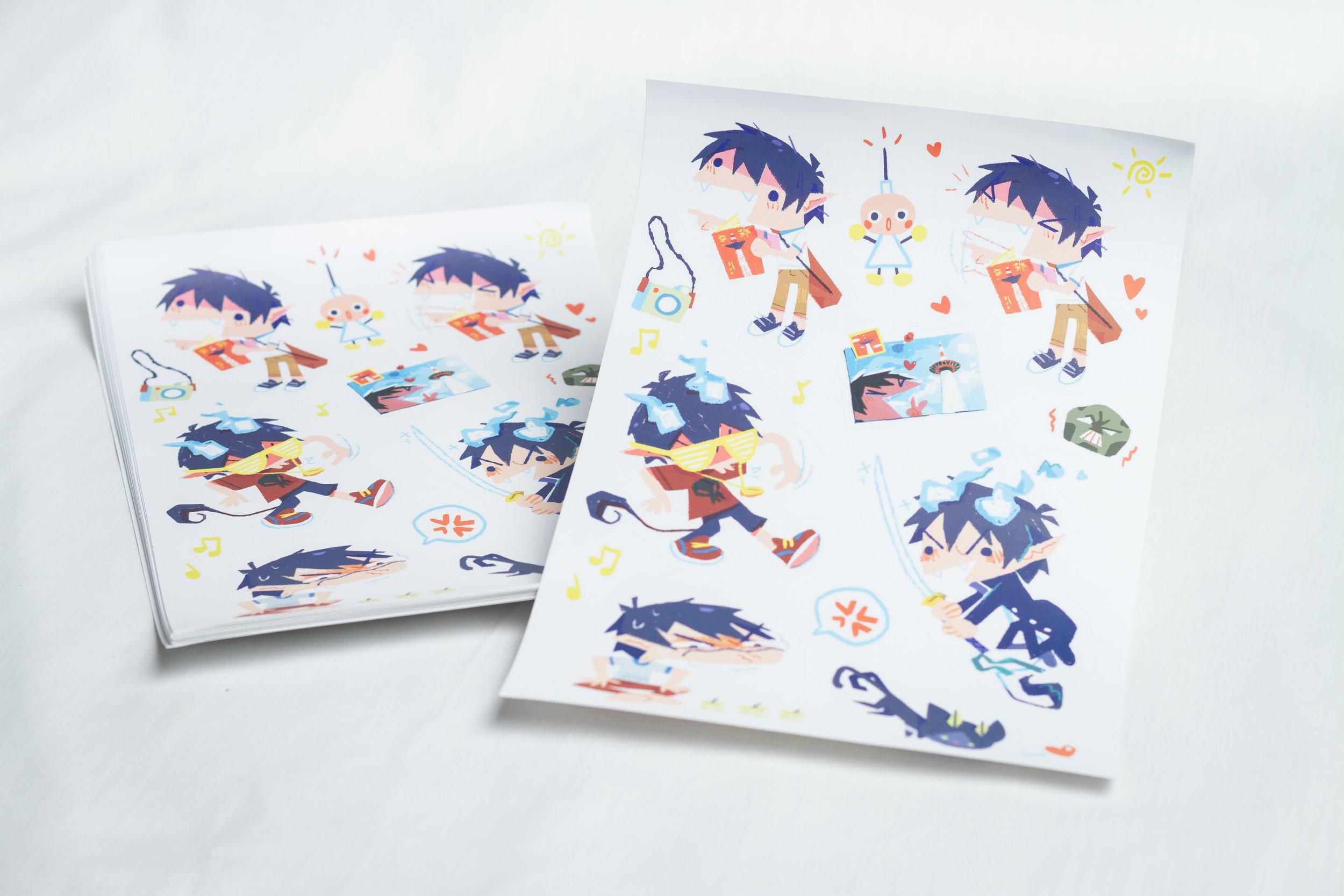 Kiss cut sticker sheet. Designed by Teressa Ong