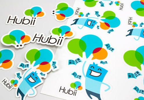Hubii Colorful Die Cut Stickers   Image Via   Webneel