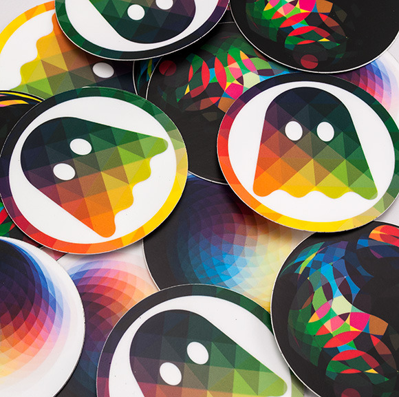 Ghostly's Ghost Imagery Stickers    Image Via    Designmag