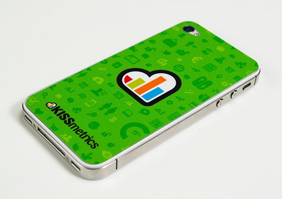 Kissmetics Phone Skin Sticker    Image Via    Designmag