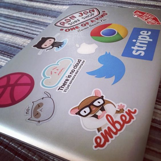 Creative Laptop Stickers    Image Via    Instagram